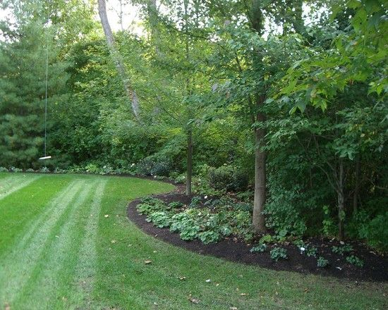 Edge Of Forest Landscaping Idea Landscapeedging Large Backyard Landscaping Large Yard Landscaping Wooded Backyard Landscape