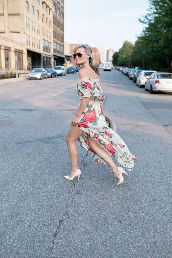 Floral Print Dresses + Bare Feet