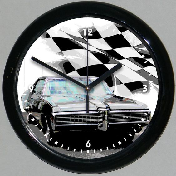 """1968 Pontiac Grand Prix 10"""" Wall Clock -#652ACC- .  See about doing this with a picture of our Grand Prix"""