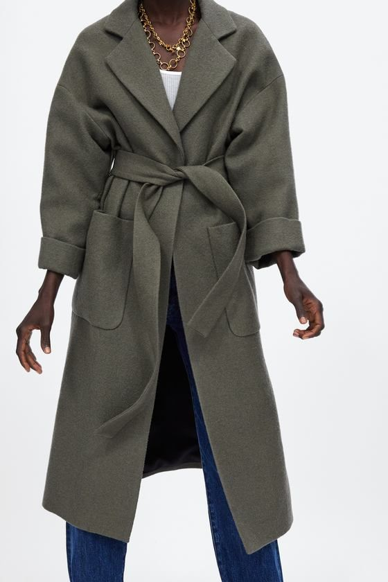 Image 2 de MANTEAU LONG AVEC CEINTURE de Zara | Coat