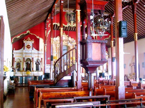 Interior view of the main church in Mompox