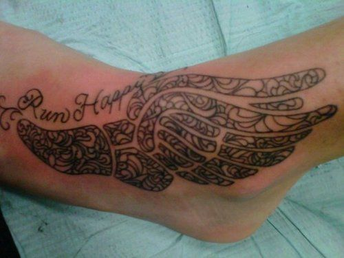 Tattoo wings track and tattoo ideas on pinterest for Track and field tattoos