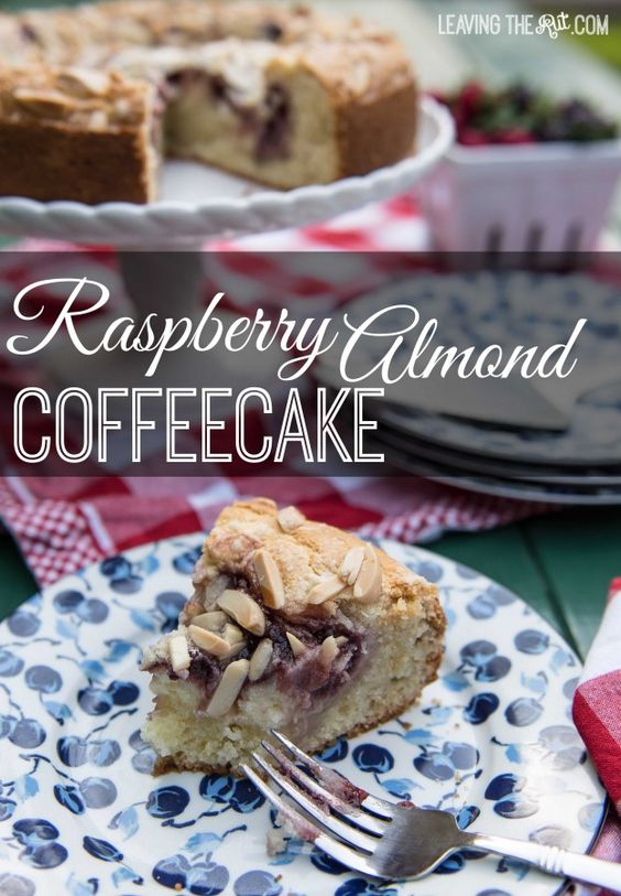 Raspberry Almond Coffeecake with Cream Cheese filling. Quick, easy and ...
