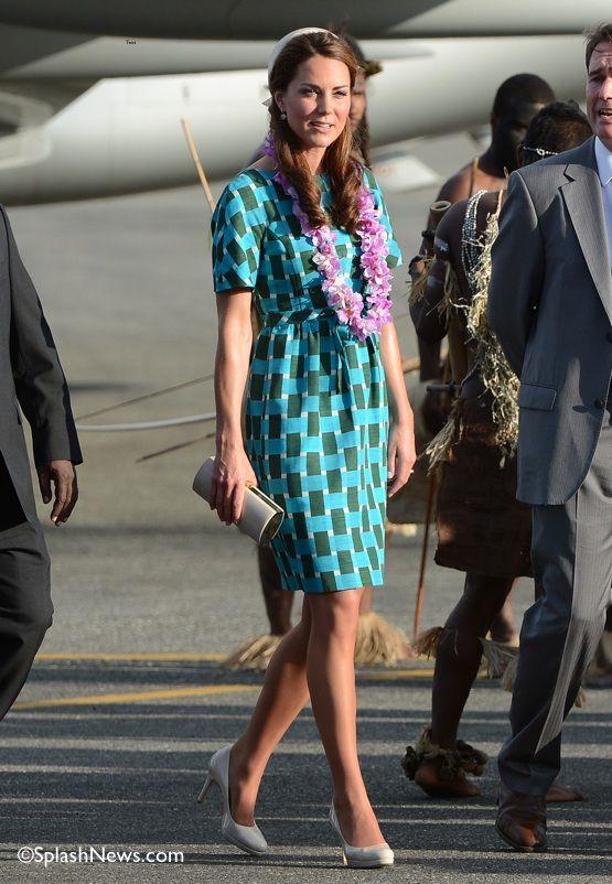 Kate Middleton in Jonathan Saunders. Solomon Islands, September 2012.
