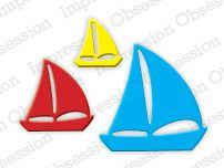 Sailboats - DIE189-C: