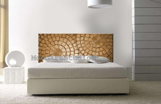 Cabecero de cama original pintado a mano de moodartstudio - Cabecero cama pintado ...