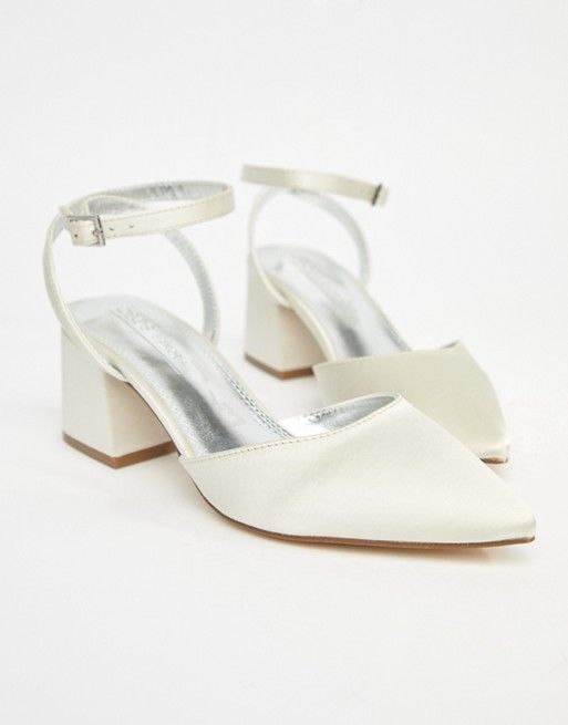 Asos Asos Scarlette Bridal Mid Heels Wedding Shoes Heels Bride Shoes Low Heel Bridal Shoes