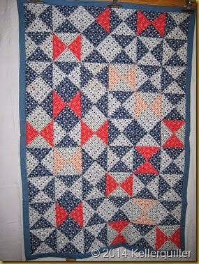 Quilt aus Viertelquadraten - genäht und gequiltet von Maria A.