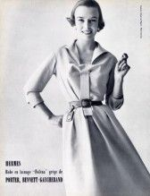 Hermès (Couture) 1954 Photo Dormer, Porter Bennett-Gaucherand (Fabric)
