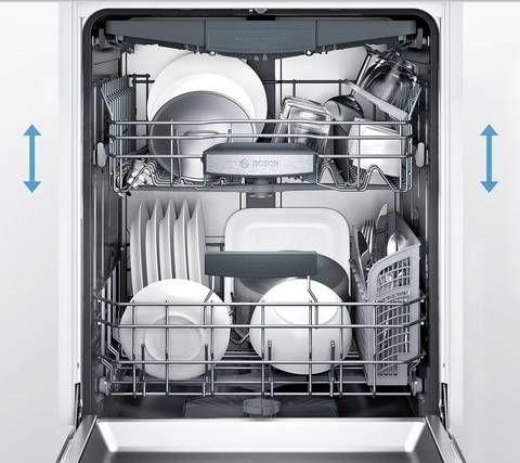 Bosch Myway Rack 800 39 Decibel Built In Dishwasher Sta Lowes Com Built In Dishwasher Black Dishwasher Quiet Dishwashers