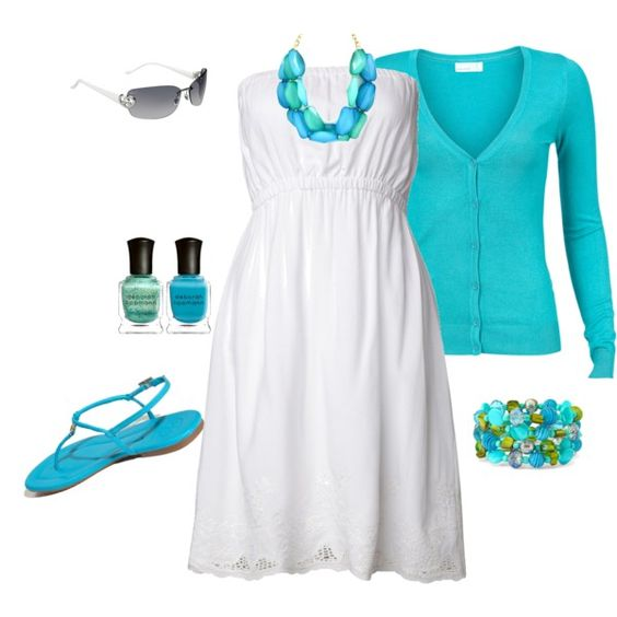 White dresses for summer are so versatile. I just bought a cardigan in this same color at Old Navy yesterday!