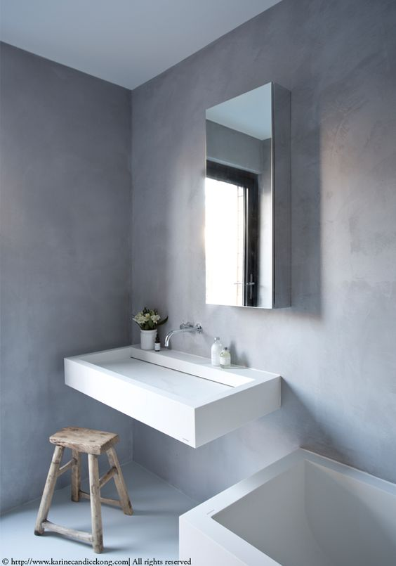 Our Tadelakt bathroom Renovations Interior Design Project by - harmonisches minimalistisches interieur design