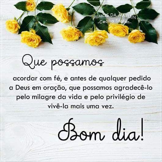 Bom Dia Bomdia Diaespecial Fe Amor Paz Esperanca Amor