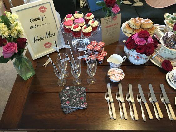 Afternoon Hen Party Tea Miss To Mrs Lipstick And Kisses Jones China Hire Www Mrsjonestea Co Uk Pinterest