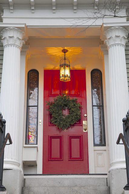 Pin By Shoshanna Tanner Realtor On The Christmas Affair Red Door Front Door Doors
