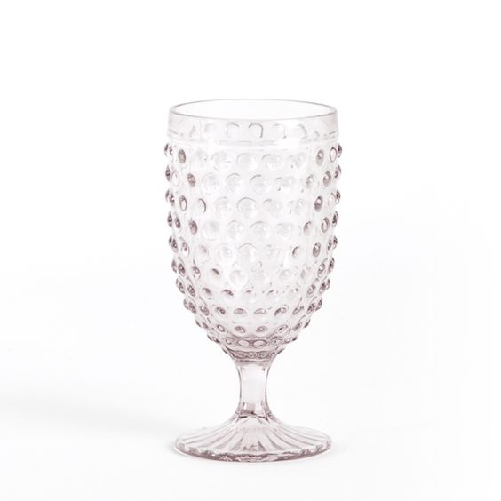Hobnail design goblets for everyday entertaining. These goblets add a classic touch to any table.