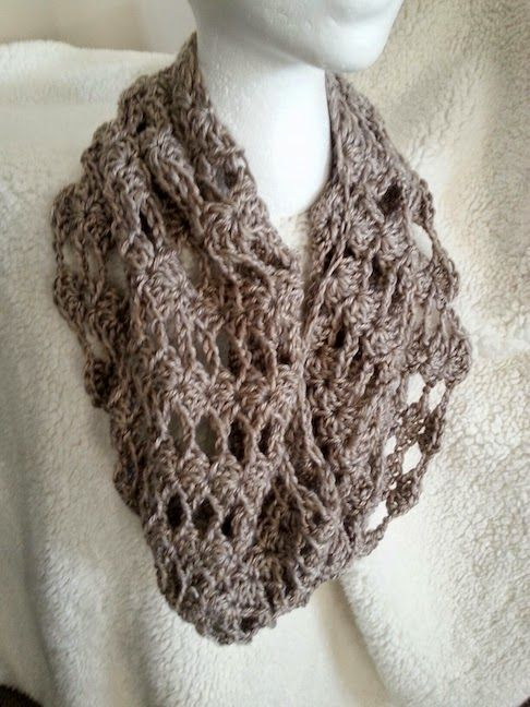 Easy Lace Cowl Knitting Pattern : Craft Connection: Simple Lacy Crochet Cowl Instructions ...