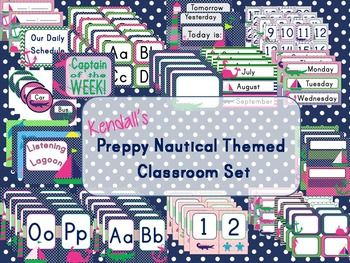 Editable Nautical Classroom set includes:Alphabet cards - 2 sizesNumber cards 1-10Editable labels - variousEditable name tagsEditable Posters for rules, behavior chart etc.Calendar SetEditable Schedule CardsEditable Transportation CardsWord Wall CardsPlease note this is a powerpoint file.