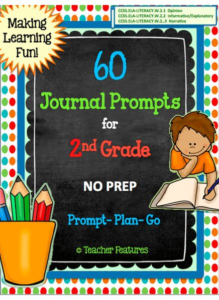 second grade writing prompts common core