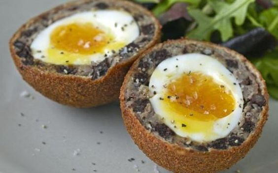 pork scotch eggs pork sausages scotch black pudding eggs puddings