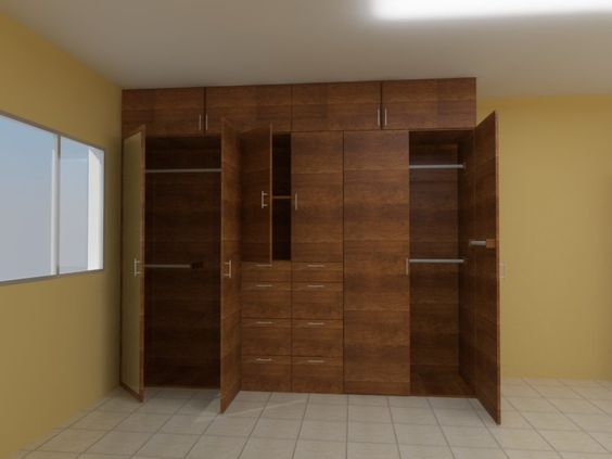 Render 1 melamina tono madera closet pinterest for Madera de melamina