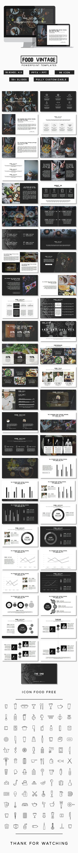 Food Vintage PowerPoint Presentation Template #slides Download here: http://graphicriver.net/item/food-vintage-presentation/14582737?ref=ksioks