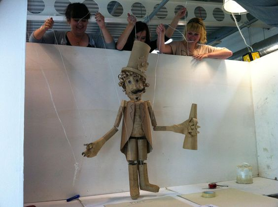 "Cardboard Puppet Show -  Strode College UK / 2011. ""Circus Ringmaster'"