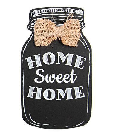 Love this 'Home Sweet Home' Mason Jar Sign on #zulily! #zulilyfinds http://www.zulily.com/invite/alizadventures: