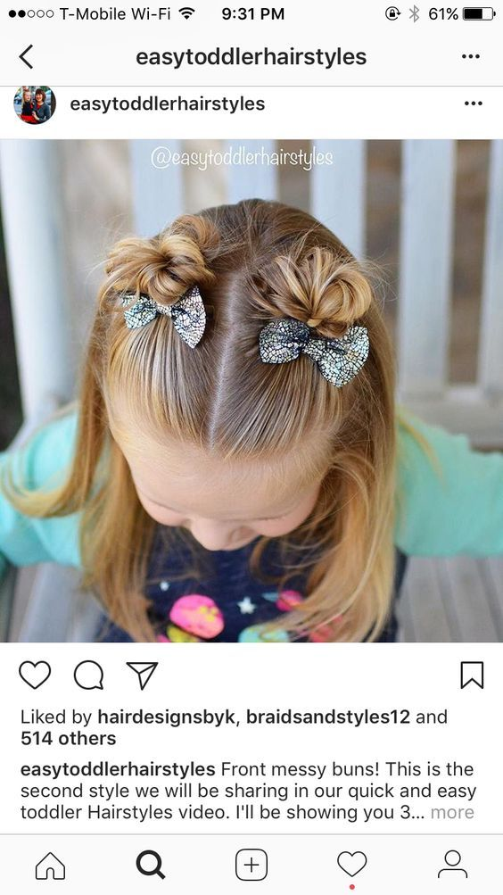 50 Super Cute Hairstyle Idea For Your Little Princess In Fall And Winter Girl Hair Dos Hair Styles Mom Hairstyles