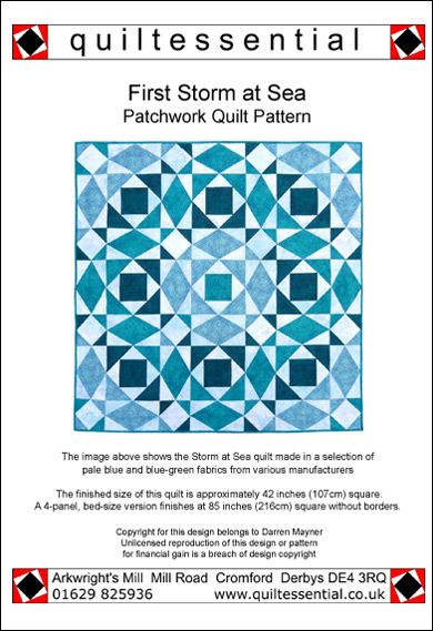 Patchwork quilt patterns quilt patterns and patchwork on for Storm at sea quilt template