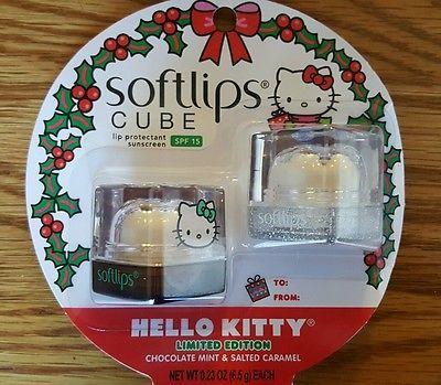 Softlips Cube Lip Balm Hello Kitty Chocolate Mint & Salted Caramel