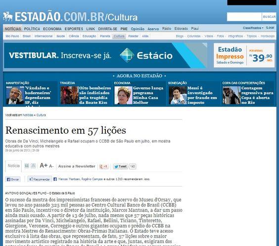 Veículo: Site Estadão (9/6/2013). Clique na imagem para ler a matéria completa.