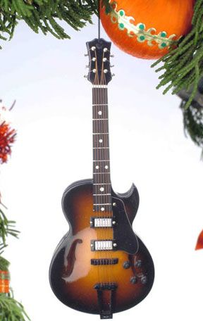 """Broadway Gifts Company Musical Ornament, 5"""" Gibson Guitar"""