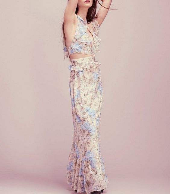 For Love & Lemons Sweet As Pie Maxi Dress