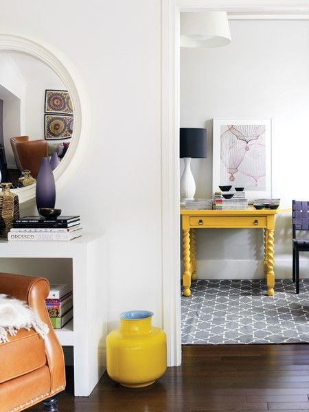***Bright Yellow Desk   photo Donna Griffith  House & Home