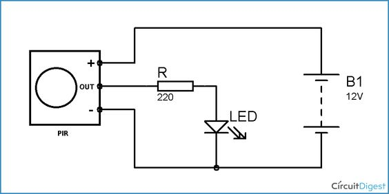 506eb9149285dbcd6a97602020242db4 circuit diagram motion detector pir motion detector sensor circuit diagram electronic circuits block diagram of invisible broken wire detector at edmiracle.co