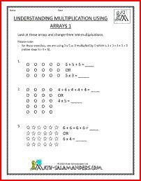 math worksheet : second grade math sheets understanding multiplication using arrays  : Understanding Multiplication Worksheets