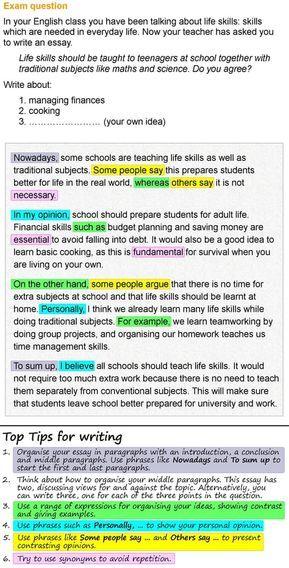 Life Skill Essay Writing Teaching On Skills