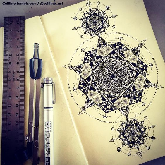 SACRED GEOMETRY - zentangle, Doodle, Artwork, drawing, tattoo idea, tattoo…