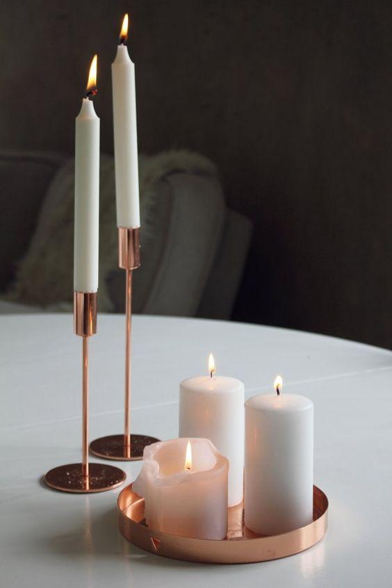 rose gold candles and copper on pinterest. Black Bedroom Furniture Sets. Home Design Ideas