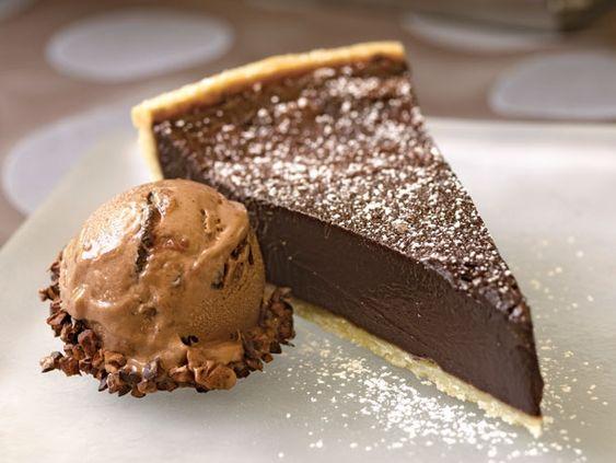 Chocolate bourbon tart from Serious Eats.