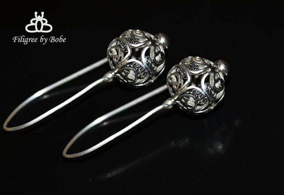 handmade silver filigree earrings . . . $35