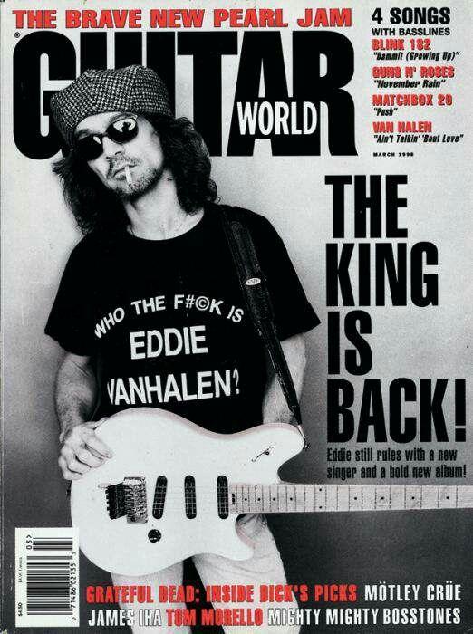 """MARCH 1998,..EDDIE VAN HALEN'S 13TH COVER APPEARANCE"