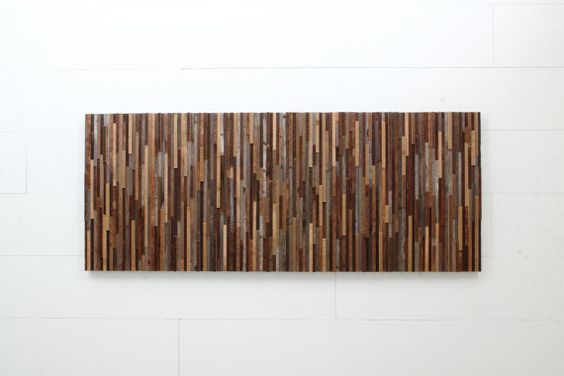 Reclaimed wood wall art made of old barnwood by CarpenterCraig