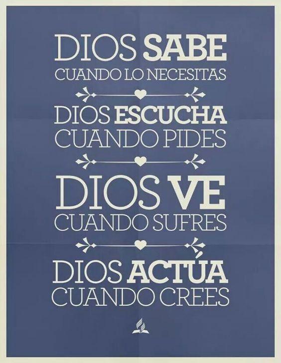 Dios siempre sabe lo que realmente necesitamos....: