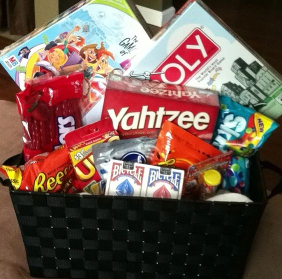 Board game goodie basket for Gerald