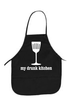 My Drunk Kitchen Logo Apron. OMG!!! I will love whoever buys me this!!!!!!!