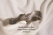 now only in plaza shop todays new arrivals  http://www.rubyplaza.com/item/650016-2374/Double-headed-Silver-Snake-Clamper