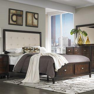 Cumbria White Bonded Leather King-size Storage Plateform Bed $950