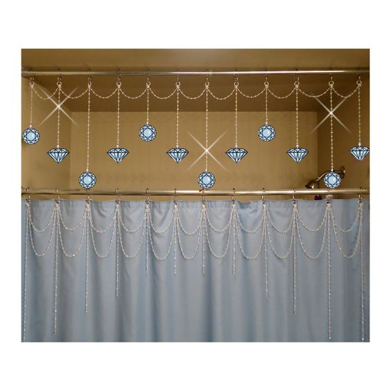 Charm Diamond Shower Curtains And In Bathroom On Pinterest